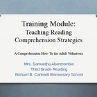 Volunteer Training Module - Reading Comprehension