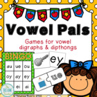 Vowel Digraphs & Diphthongs Memory Game