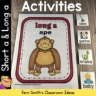 Vowel Sorting Short a & Long a Center Games and Interactiv
