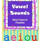 Vowel Sounds Word Search Puzzles / Phonics