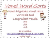Vowel Word Sorts (10 word sorts) {10 Posters}