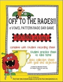 Vowel pattern race car game! Featuring oa & long u! With d