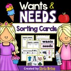 WANTS and NEEDS {Picture Cards for Sorting and Recording Sheets}