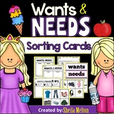 WANTS and NEEDS (Real Pictures for Sorting, Recording Shee