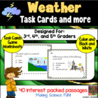 WEATHER: SCIENCE TASK CARDS (AND MORE)