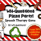 FREEBIE!! WH-Questions Pizza Party! Game for Speech therap