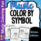 WINTER Color by Music Symbol -set of 8 Color Sheets for Mu