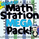WINTER Math Station MEGA Pack! K-2