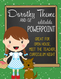WIZARD of OZ - PowerPoint, Open House, Curriculum Night, M