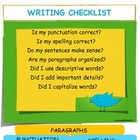 WRITING CHECKLIST AND BOOKMARKS