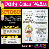 WRITING - September Quick Writes
