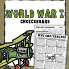 WW1 Choice-Board Assignment (+ Rubric)