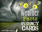 Wacky Weather Fluency Fact Task Cards