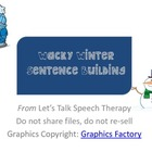 Wacky Winter Sentence Building