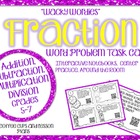 Wacky Wordies Fraction Word Problem Task Cards