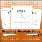 Walk Around Activity - Graphing Absolute Value by Shifting