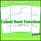 Walk Around Activity ~ Graphing Cube Root Functions ~ Level 2 ~