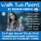 Walk Two Moons Reading Comprehension Guide Activities KEY