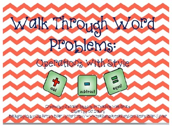 Walk through word problems as a class!!