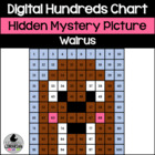 Walrus Hundreds Chart Hidden Picture Activity for Winter M