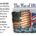 War of 1812 - President Jackson Unit - PowerPoints