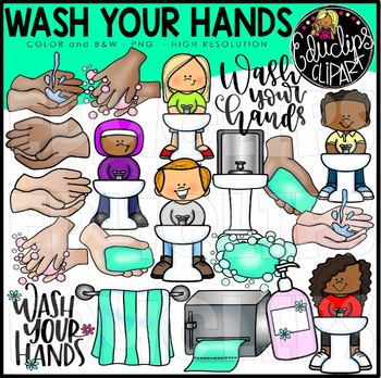 Children hand washing clip art wash your hands clip art