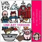 Wash day LINE ART bundle by melonheadz