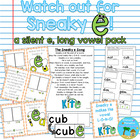Silent e, long vowel: Watch Out for Sneaky e pack