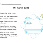 Water Cycle Diagram (Simple Version) with Answer Sheet