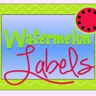 Watermelon Theme Labels