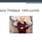 Wayne Thiebaud Art PowerPoint