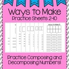 Ways to Make Numbers Sheets
