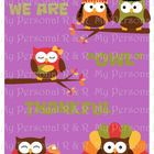 "We Are ""OWL"" Thankful Bulletin Board in a Bag"