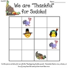 We Are Thankful for Sudoku!  Thanksgiving Sudoku Puzzle