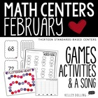 We Heart Math Centers - 10 Common Core Centers {Valentine's Day}