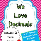 We Love Decimals Task Cards