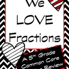 We Love Fractions 5th Grade Review