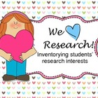 We Love Research: an Inventory of Students' Research Interests