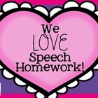 We Love Speech Homework: A Valentine's Themed Homework Packet!