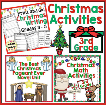 We Wish You A Common Core Christmas: Math and Literacy Activities 3rd Grade