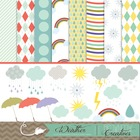 Feb2014FlashSale : Weather Clipart and Backgrounds!