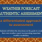 Weather Forecast Authentic Assessment