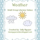 Weather Small Group Literacy Games