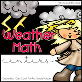 Weather Watchers {8 Weather Themed Math Centers}
