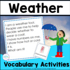 Weather Wonderings: 20 Riddle Cards About Weather