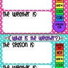 Weather and Season Chart BRIGHT POLKA DOT
