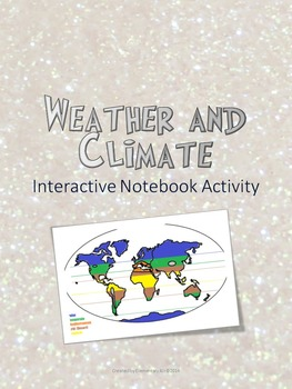 Weather vs. Climate Interactive Notebook Freebie