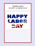 WebQuest: Happy Labor Day