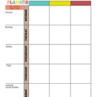 Week Lesson Plan Template