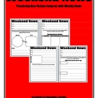 Weekend News Templates:  Practicing Nonfiction Features